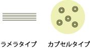 ラメラ構造とカプセル型セラミド